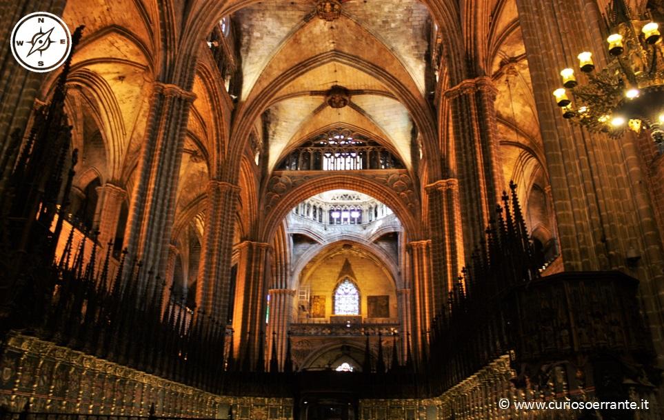 La cattedrale di Barcellona - Navata