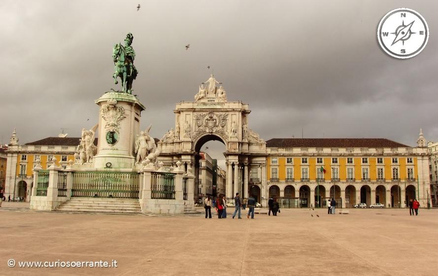 Lisbona - Arco di Trionfo su Praça do Comércio