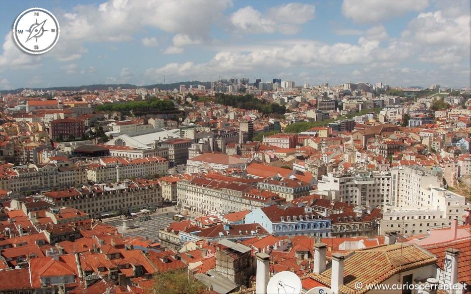 Lisbona - Alfama - visuale della città panoramica