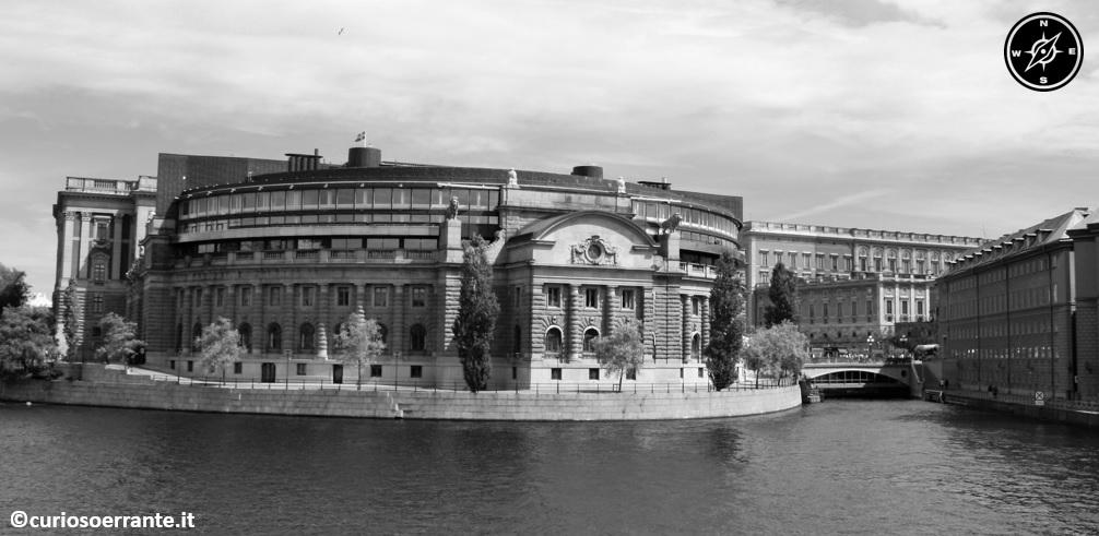 Helgeandsholmen Riksdaghuset parlamento