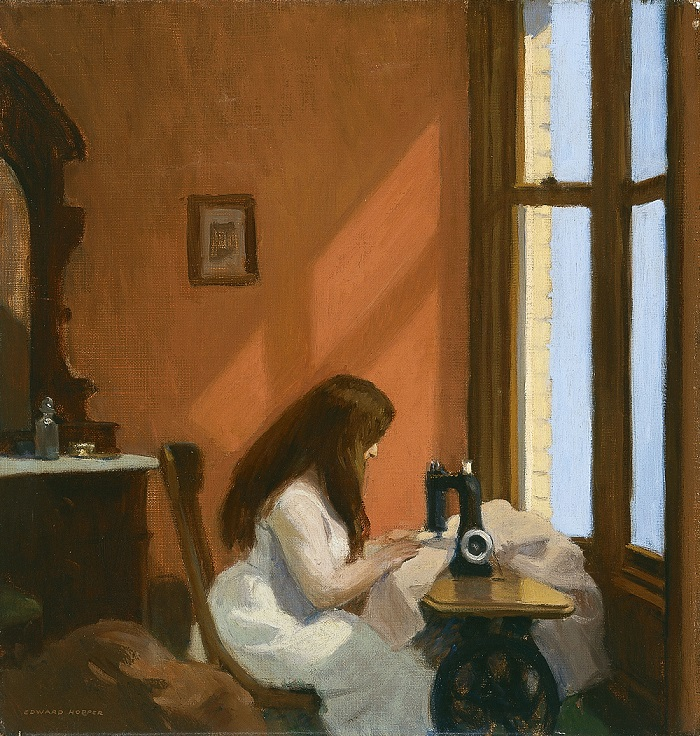 Edward Hopper - Girl at a Sewing Machine (1921)