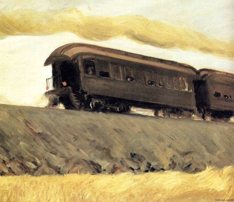Edward Hopper - Railroad Train (1908)