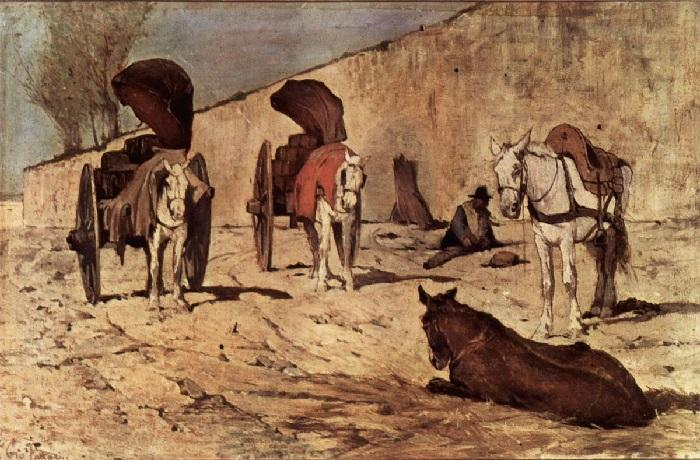 Giovanni Fattori - Barrocci romani (1873)