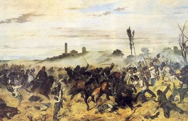 Giovanni Fattori - Carica di Cavalleria a Montebello (1862)