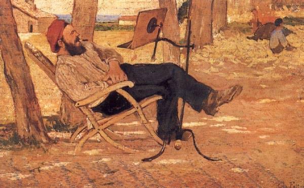 Giovanni Fattori - Diego Martelli a Castiglioncello (1867)