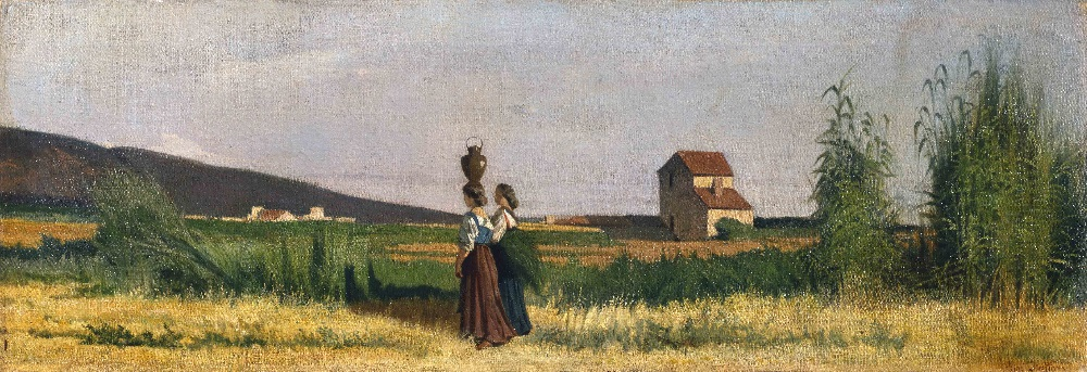 Giovanni Fattori - Le acquaiole livornesi (1865)