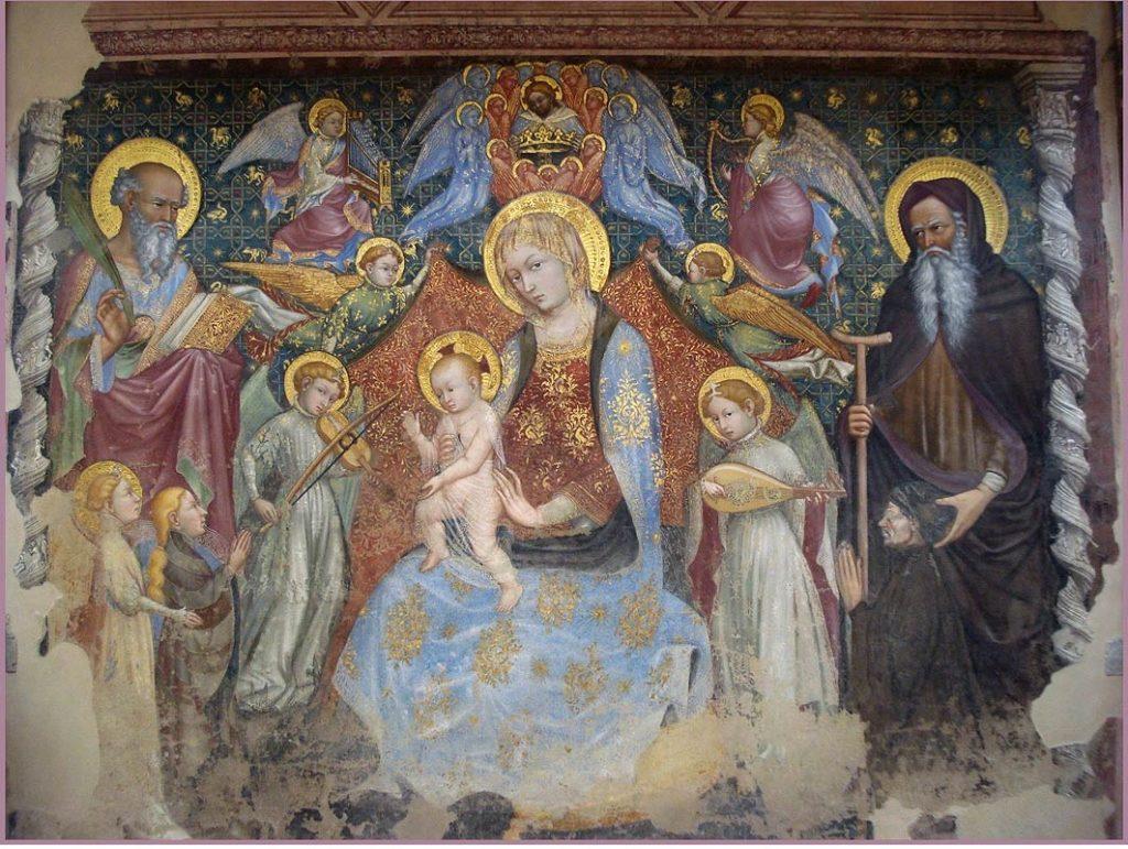 Madonna del Belvedere di Ottaviano Nelli - Gubbio