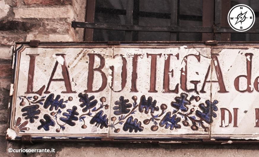 Antiche botteghe nel centro storico di Gubbio