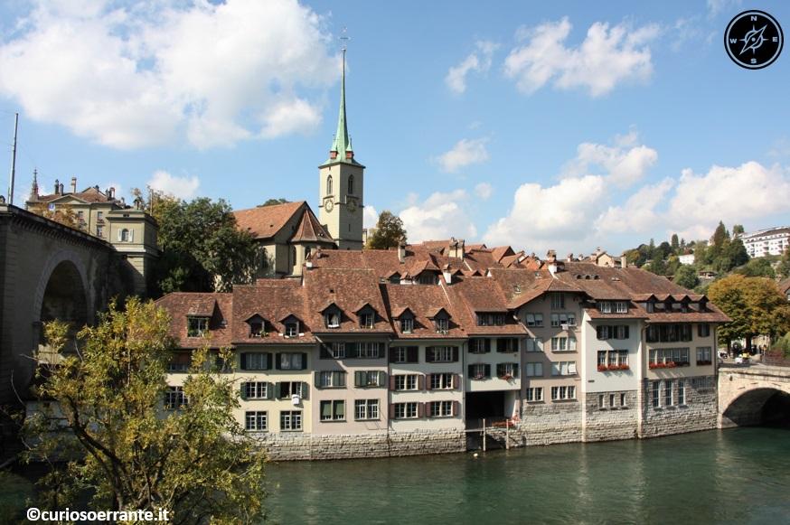 Berna - centro storico visto dal fiume Aare