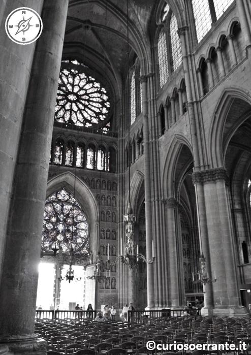 Cattedrale Notre Dame di Reims - rosone ed entrata
