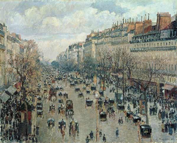 Pissarro - Boulevard montmartre Paris 1897