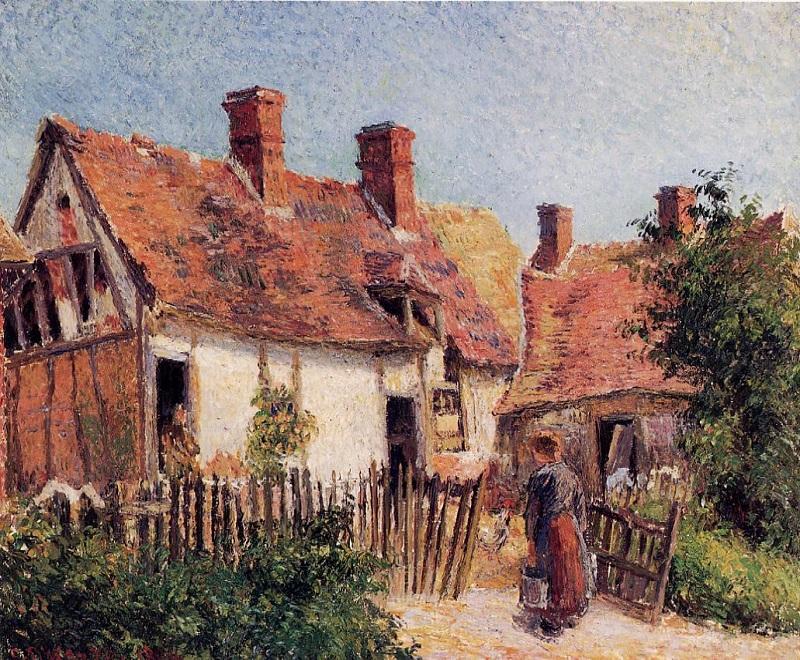 Pissarro - Case vecchie a Eragny - 1884
