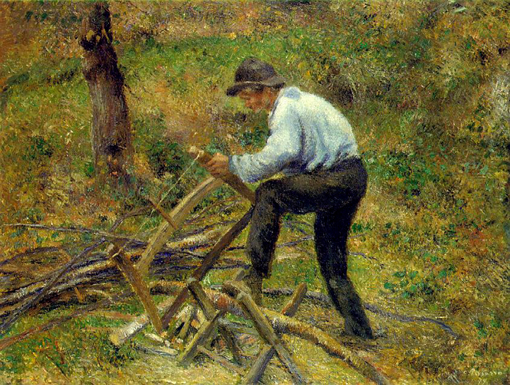 Pissarro - Il taglialegna 1879