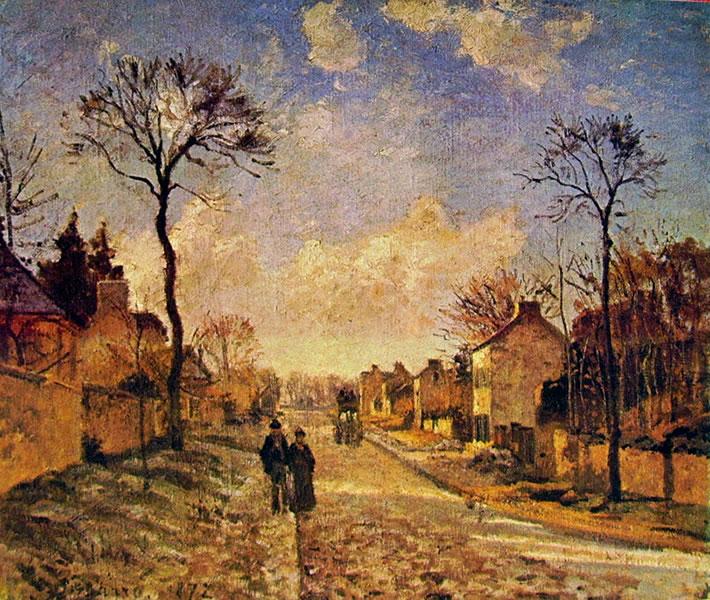 Pissarro - La strada di Louveciennes 1869