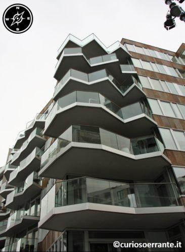 Aker Brygge di Oslo - palazzi con architetture dinamiche e moderne