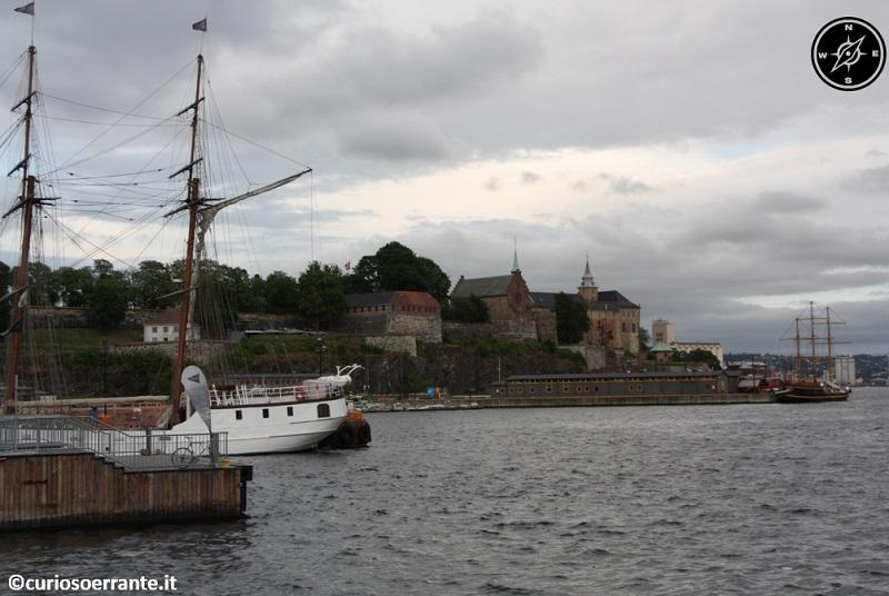 Aker Brygge di Oslo - vista del Kvadraturen sulla sponda opposta