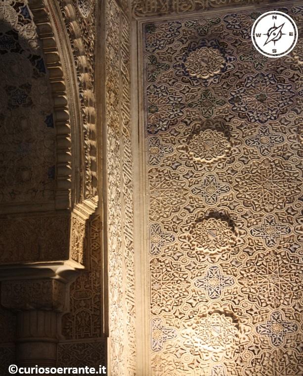 Alhambra - decorazioni e stucchi nella Sala de los Abencerrajes