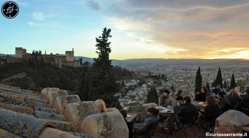 Granada - vista della città dal Mirador de San Nicolas