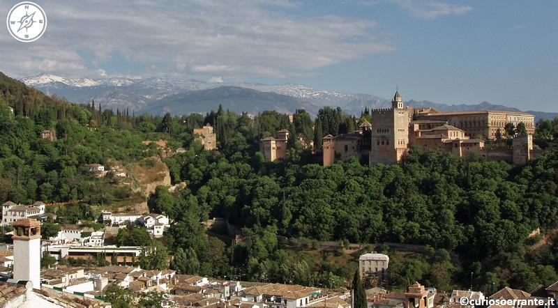 Granada - vista dell'alhambra e del geralife da albaicin