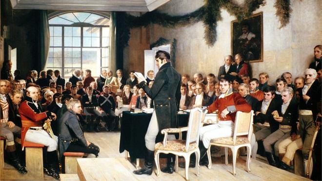 Oscar Wergeland l'assemblea di Eidsvoll