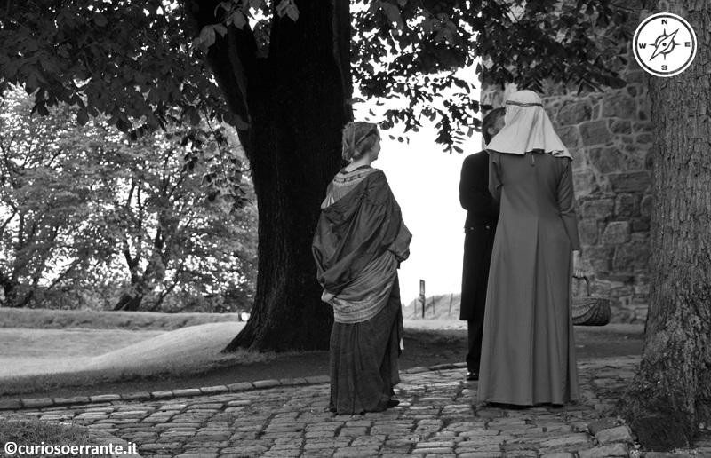 Oslo - Personaggi in costumi d'epoca nel castello di Akershus Slott