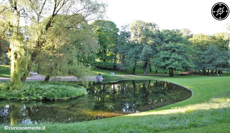 Oslo - Slottsparken, il giardino che circonda il palazzo reale