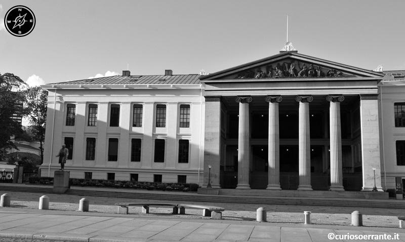 Oslo - Universitetet entrata del complesso universitario