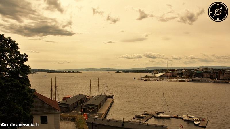 Oslo - Vista del OsloFjorden dai bastioni