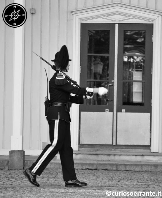 Oslo - guardia davanti allo Slottet - Il palazzo Reale