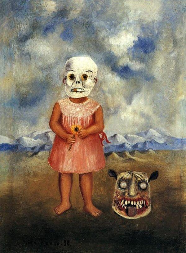 Frida Kahlo - Bambina con maschera della morte (1938)