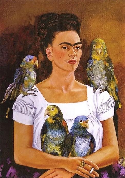 Frida Kahlo - Io e i miei pappagalli (1941)