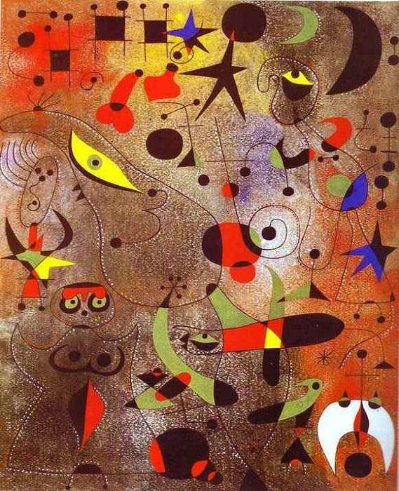 Joan Miró - Dutch Interior I (1928)