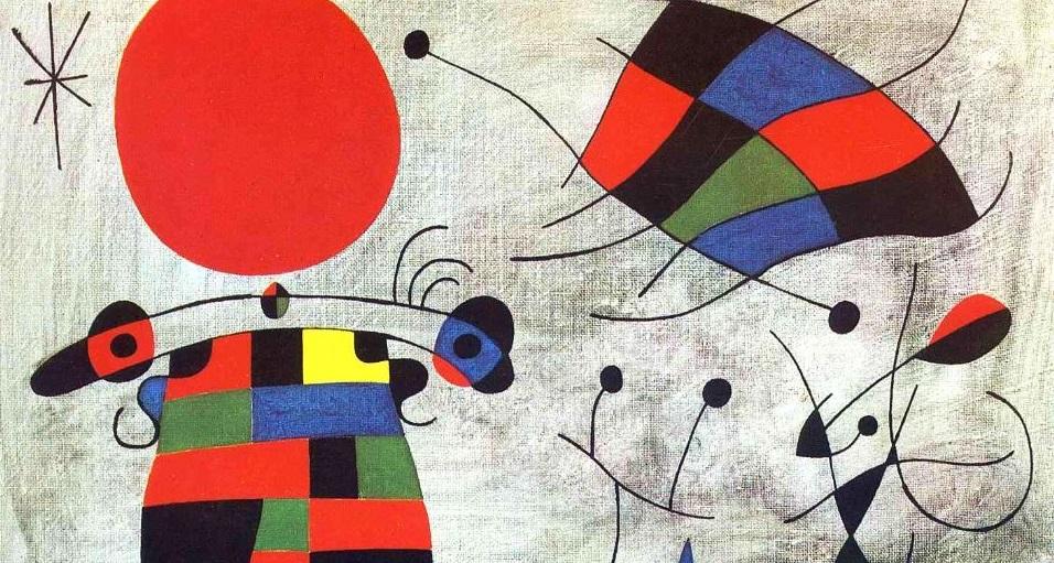 Joan Miró - Il sorriso delle ali di fiamme (1953)
