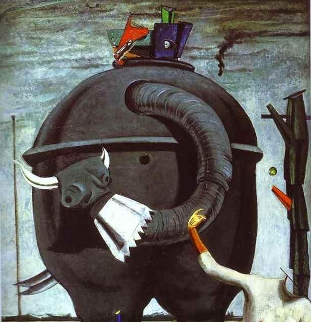 Max Ernst - L'éléphant Célèbes (1921)