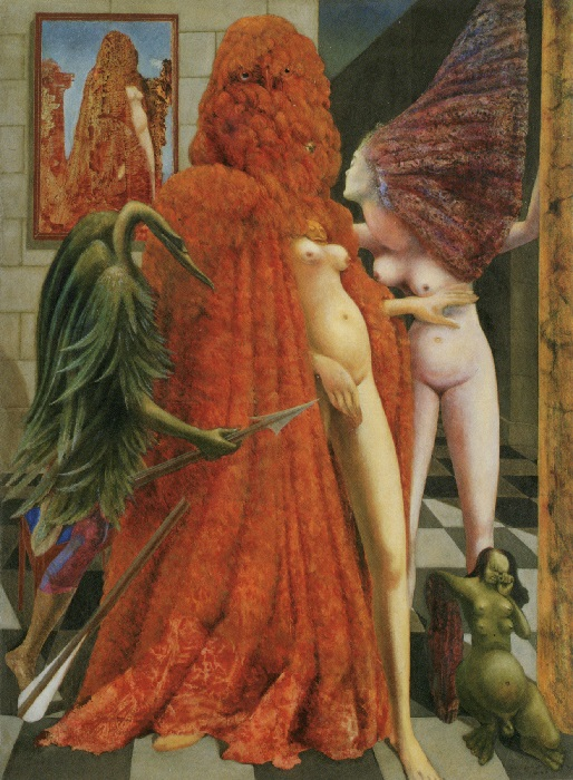 Max Ernst - La vestizione della sposa (decalcomania) 1940