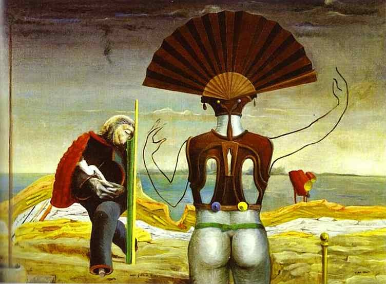 Max Ernst - Woman, old man and flower (1923)