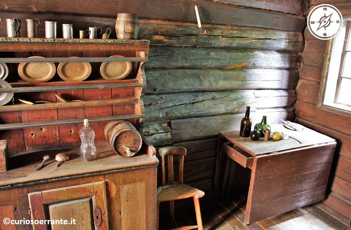 Norsk Folkenmuseum di Oslo - Interni delle abitazioni rurali norvegesi
