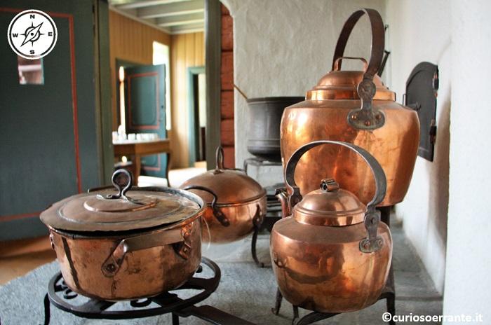 Norsk Folkenmuseum di Oslo - Oggetti d'epoca della tradizione norvegese