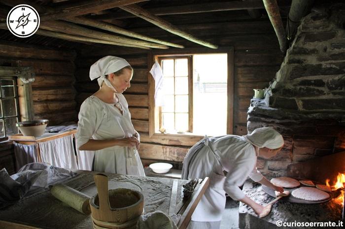 Norsk Folkenmuseum di Oslo - preparazione del pane
