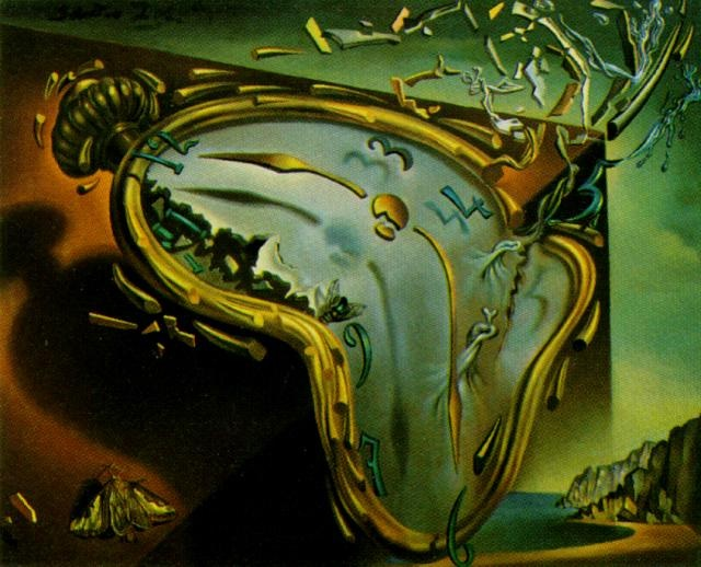 Salvador Dalì - L'orologio molle al momento della prima esplosione (1954)
