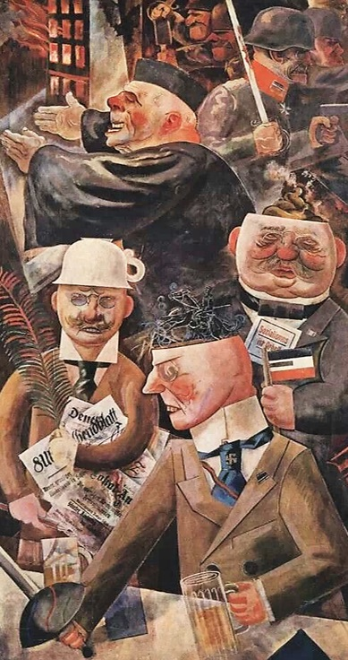 George Grosz - I pilastri della società 1926