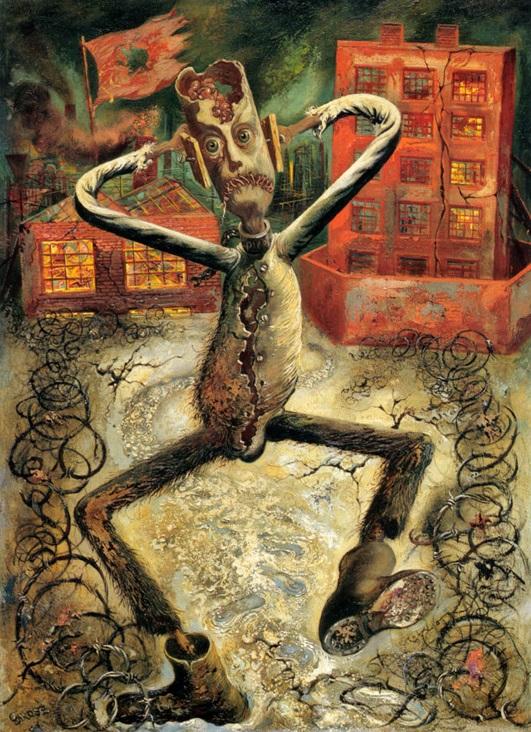 George Grosz - La danza dell'uomo grigio 1949