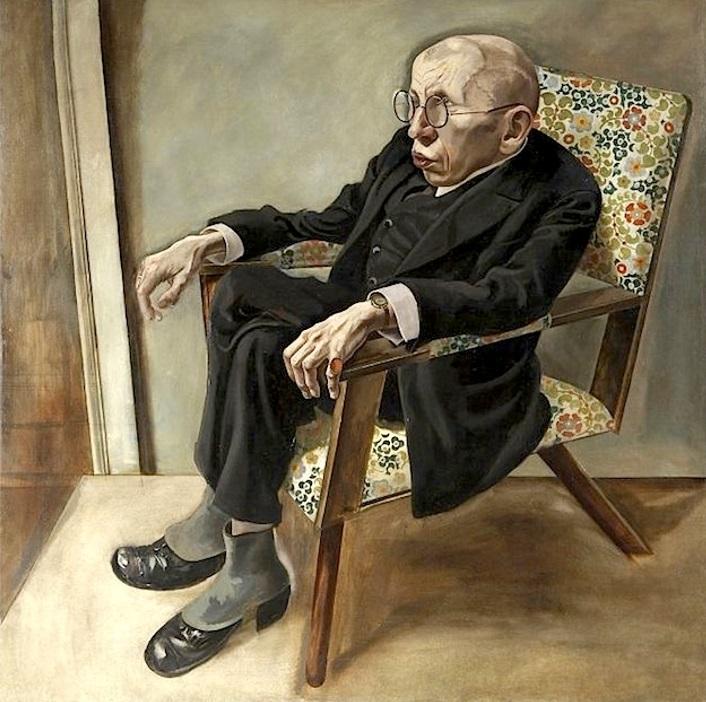 George Grosz - Ritratto dello scrittore Max Hermann-Neisse 1925