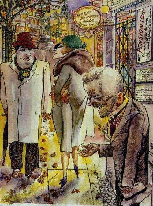 George Grosz - Scena di strada 1930