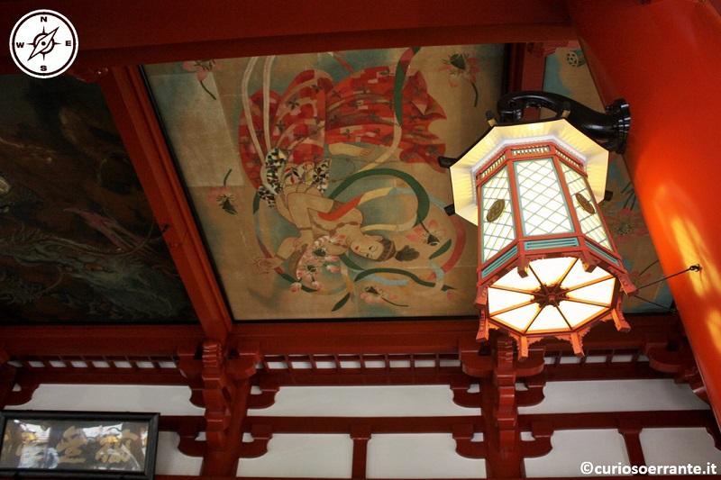 Tempio Senso-ji Tokyo - angeli con i fiori di loto di Domoto Insho XX secolo