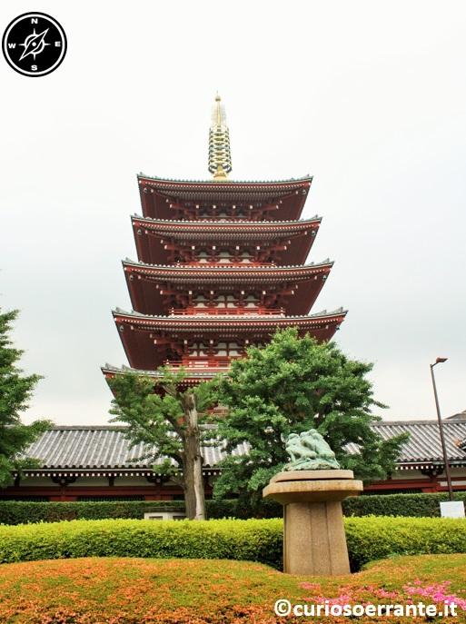 Tempio Senso-ji Tokyo - pagoda a 5 ordini