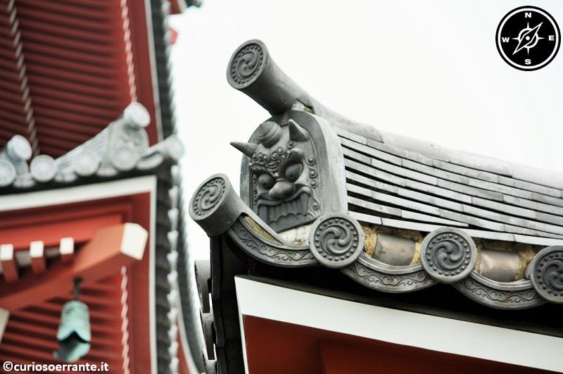 Tempio Senso-ji Tokyo - particolare dei tetti degli edifici
