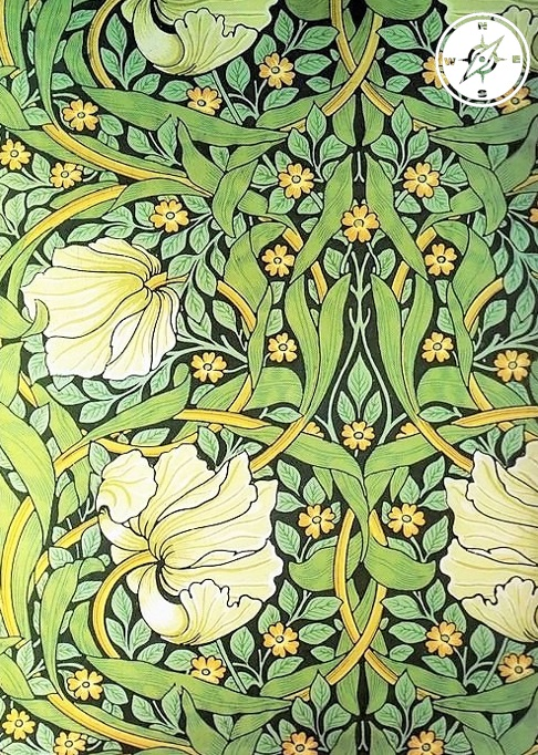 Art noveau - arabeschi in carta da parati di William Morris