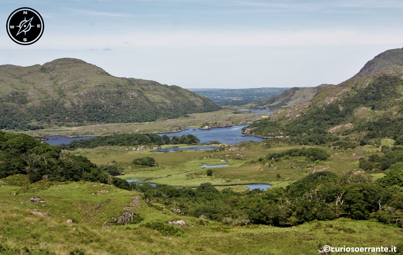I Laghi di Killarney - Panoramica dalla statale sul Long Range River e Upper Lake
