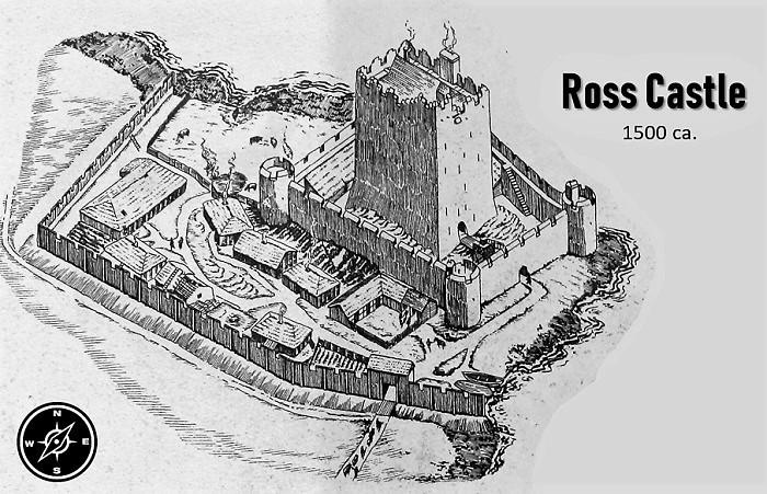 Ross Castle nel 1500